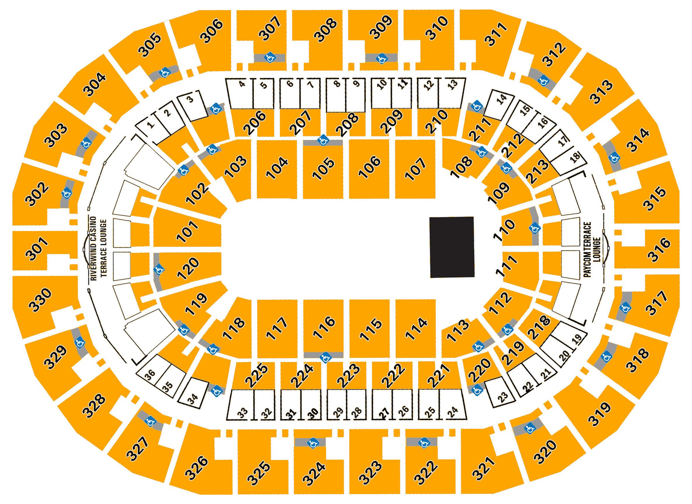 Chesapeake Energy Arena Seating Chart