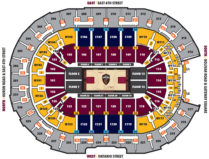Rocket Mortgage FieldHouse Seating Chart