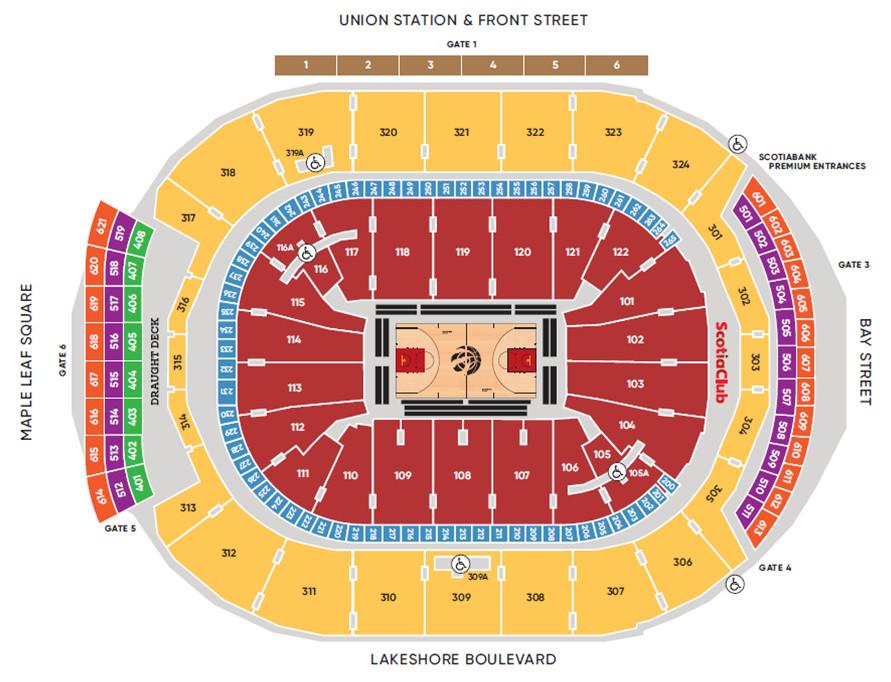 Scotiabank Arena Seating Chart