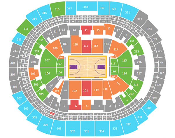 Lakers seating chart