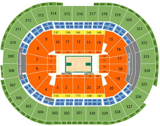 TD Garden Seating Plan